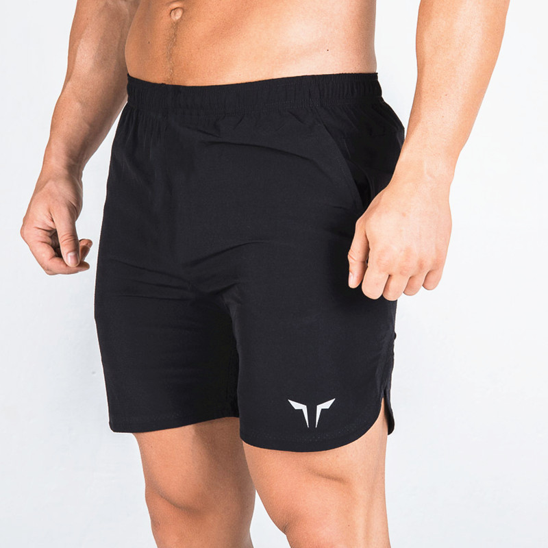 New fashion casual sport shorts quick dry breathable jogging fitness double shorts mens beach Knee Length Bodybuilding shorts in Casual Shorts from Men 39 s Clothing