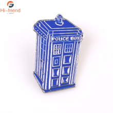 Doctor Who Single Houses Tardis Brooch Dr Mysterious Blue Police Box Enamel Pin And Brooches For Women Men цена и фото