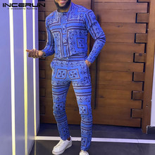 Casual Men Jumpsuit Overalls Rompers Joggers Streetwear-Button Fitness Ethnic-Style INCERUN