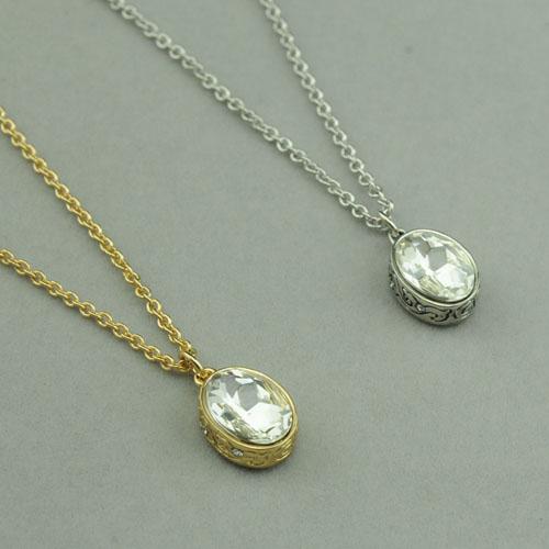Collier de tempérament pendentif ovale vente chaude DYRBERG/KERN collier de pierres semi-précieuses en STOCK