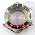 43 мм сапфировое стекло зеленый керамический ободок корпус из нержавеющей стали подходит для ETA 2836 Miyota 8215 DG 3804 механизм 48