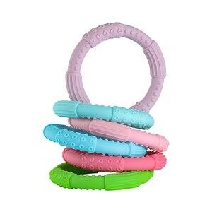 Image 5 - 3 sztuk ząbkowanie bransoletka dla dzieci silikonowa bransoletka typu Bangle dla dzieci dla dzieci do karmienia opaska na nadgarstek gryzak biżuteria przypominająca jedzenie klasy silikonowe BPA darmo