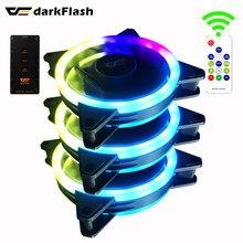 Darkflash – ventilateur DR12 PRO, 3 broches, 5v, aura sync, RGB, réglable, 120mm, Double halo, argb, refroidisseur, silencieux, 12cm