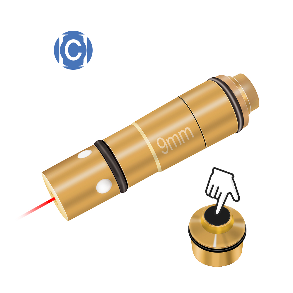 9MM(Light Pulse 80MS) Training Bullet, Trainer Cartridge For Dry Fire Training And Shooting Simulation