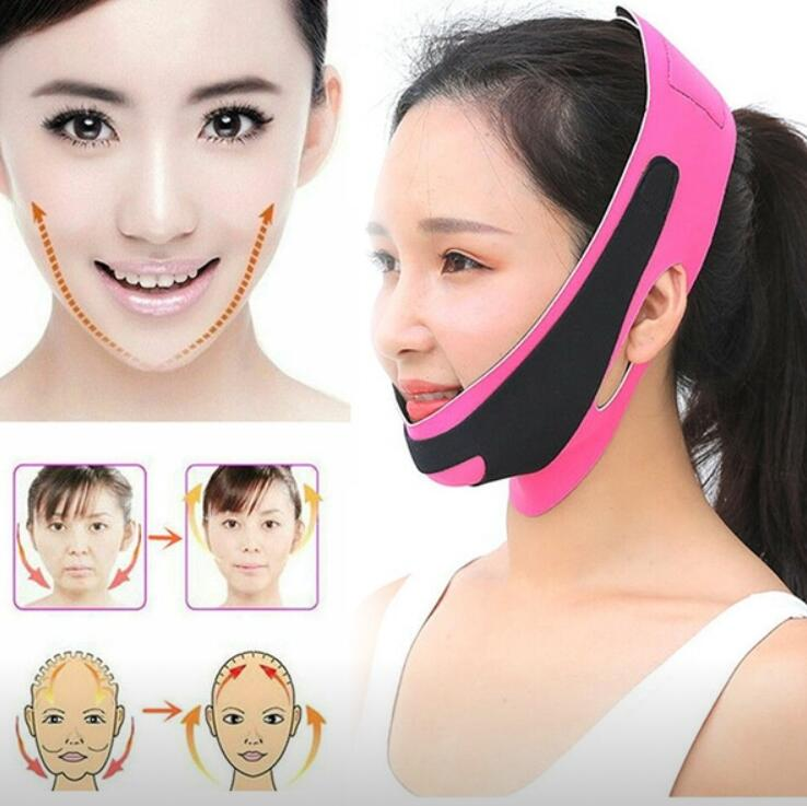 V Face Line Belt Double Chin Face Bandage Slim Lift Up Anti Wrinkle Mask Strap Band Women Slimming Thin Beauty Face Lift Tool