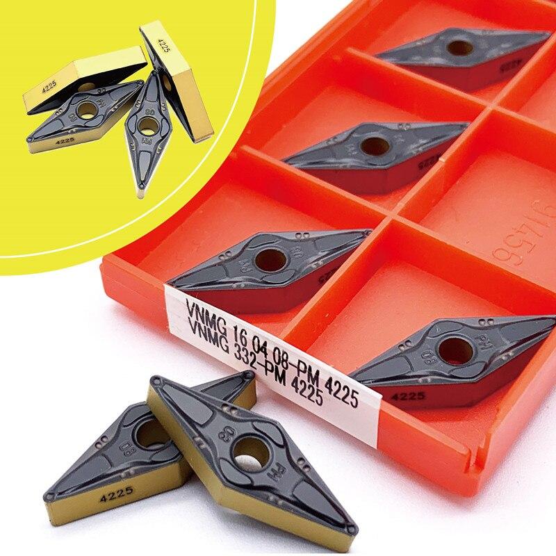 VNMG160404 VNMG160408 PM 4225 plaquettes de carbure de qualité Cermet CNC outils de tournage externes