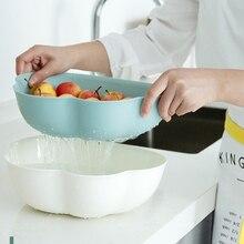 Plastic Colander Sieve Rice Washing Filter Strainer Basket Kitchen Tools Food Grade Beans Sieve Fruit Bowl Drainer Cleaning