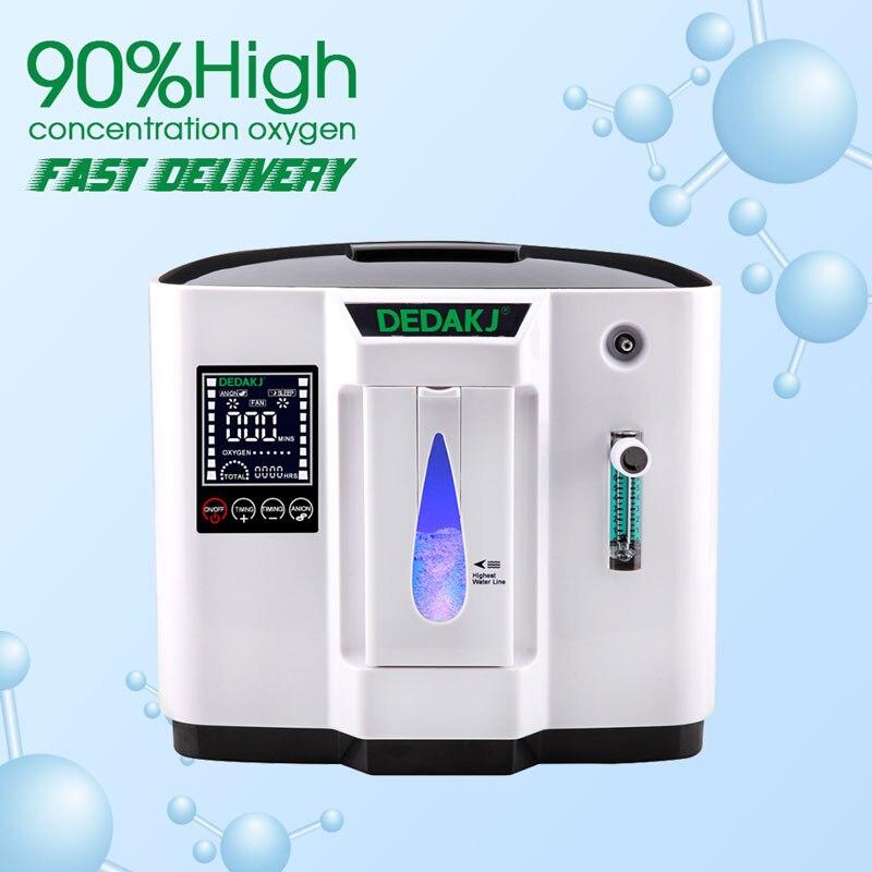 DEDAKJ DDT-1A/DDT-1B AC110V/220 V concentrador de oxígeno Portabl ajustable máquina generador purificador de aire hogar no alimentado por batería