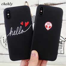 Fashion Alien Phone Case for IPhone 6s 7 8 11 Plus Pro X XS Max XR Cases Soft Sillicone Fitted Cell TPU Covers Accessories