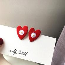 S925 изящные ювелирные изделия серьги в виде медового сердца