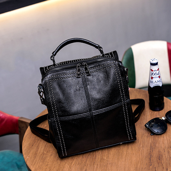 All-cowhide women's bag cross-body bag joker cowhide handbag travel bag designer top set bag women's bag