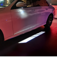 LED Rearview Mirror Carpet Lamp Ambient Light Decor Lamp Shadow Projector Welcome Lights For Mercedes Benz W213 W205 X253