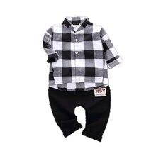 Модный детский джентльменский костюм детская одежда для мальчиков