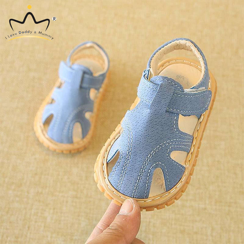 Summer New Baby Sandals Anti Slip Rubber Sole PU Leather Baby Boy Girl Sandals Boys Girls Shoes Kids