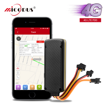 MiCODUS Car GPS Tracker 4G LTE FDD MV401G 9-72V Waterproof Cut Off Fuel Collision Alert 4G GPS Tracker Car Shock Alarm FREE APP image