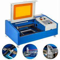 VEVOR 40W CO2 Laser Engraver with Wheels USB Port Laser Engraving Machine LCD Display Laser Cutting Machine