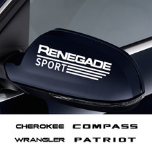 2 uds coche 14CM pegatina para espejo retrovisor para Jeep Cherokee comandante brújula libertad patriota renegado Rubicon TrailHawk de Wrangler