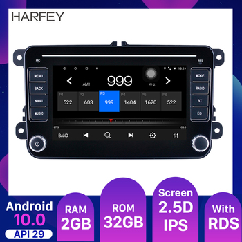 Harfey 7 car Multimedia Android 10.0 API29 Car Radio For Universal VW SEAT LEON Golf Passat b5 b6 CC Sharan Polo Skoda Magotan image