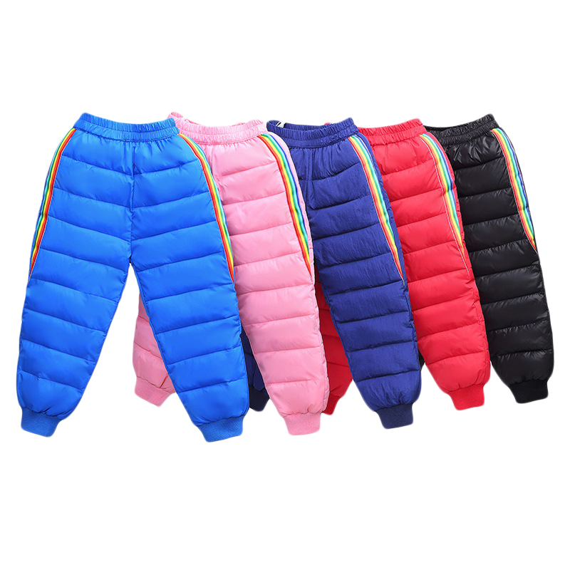 2020 New Boys and girls down cotton trousers 2-6 years old thick warm pants, baby winter trousers children's thick Sweatpants 1