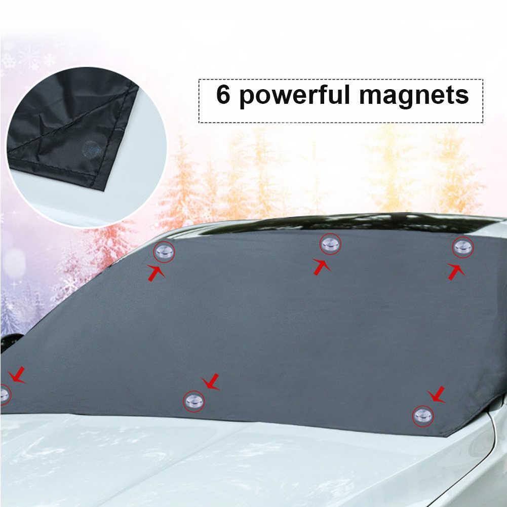 210*120cm samochodów magnetyczny osłona przeciwsłoneczna przednia szyba samochodu śnieg parasol przeciwsłoneczny wodoodporny ochraniacz pokrywa samochodów przednia szyba pokrywa