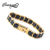 Men&Women Bracelets 2018 White Black Gold Bracelet Ceramic&Transparent Glaze bangles Couple Inoxidable bracelet Charm Love Gift