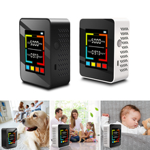Multifunctional 5 in1 CO2 Meter Digital Temperature Humidity Sensor Tester Air Quality Monitor Carbon Dioxide TVOC HCHO Detector