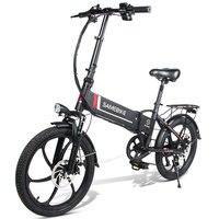 [ЕС Прямой] SAMEBIKE 20LVXD30 10.4AH 48 В 350 Вт Электрический велосипед 7 скоростей мопед 20 дюймов электровелосипед 80 км пробег складной электровелосипед