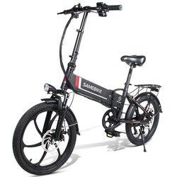 [Ue Diretta] Samebike 20LVXD30 10.4AH 48V 350W Bici Elettrica 7 Velocità Ciclomotore 20 Pollici E- bike 80Km Chilometraggio Pieghevole Bici Elettrica