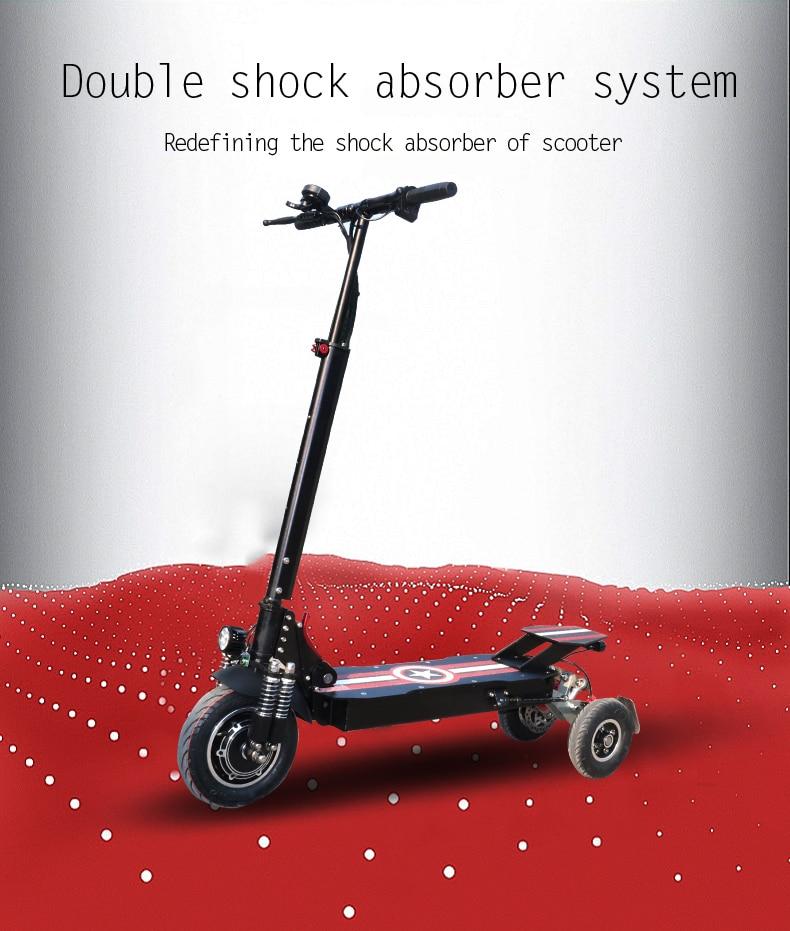 amortecedor dianteiro dobrável patinete elétrico