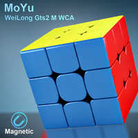 Moyu Weilong GTS2 M WCA 3x3x3 Magnetic Magic Speed Cube Stickerless Professtional Magnets Puzzle Cubo Magico weilong GTS2M WCA