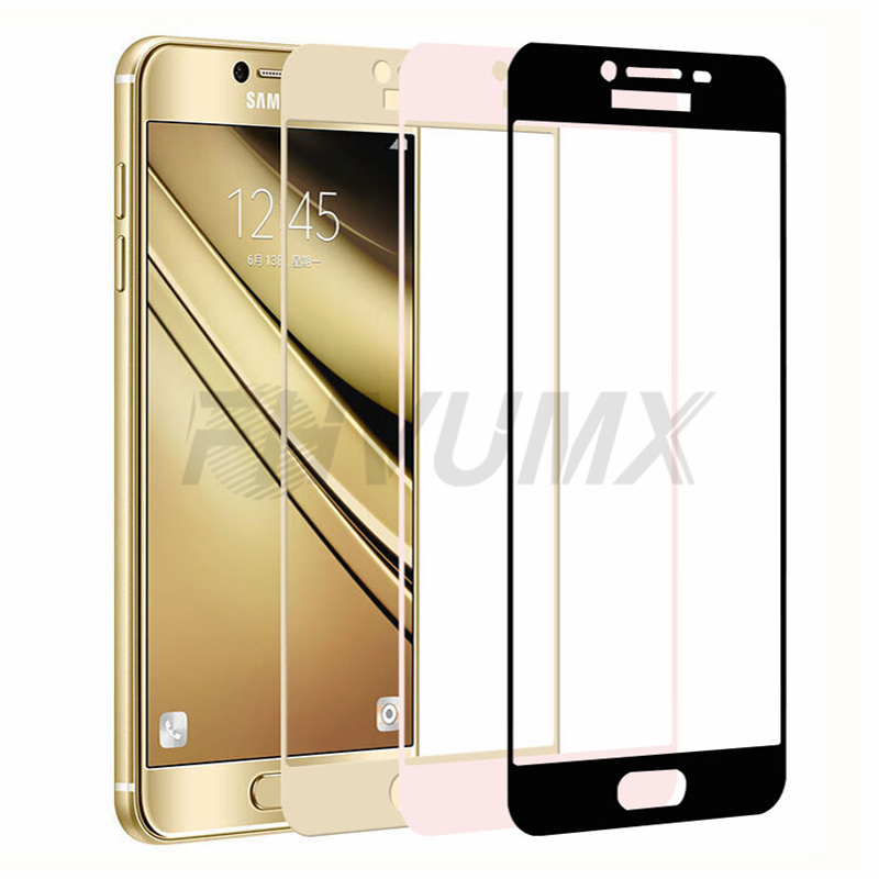 Protective Case Tempered-Glass-Film Glass-On A5 Samsung S7 A7 A3 9D J3 for Galaxy J5 title=