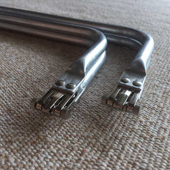 16 inch metal frame aluminum tubular internal hinge Bag purse - sale item Bag Parts & Accessories
