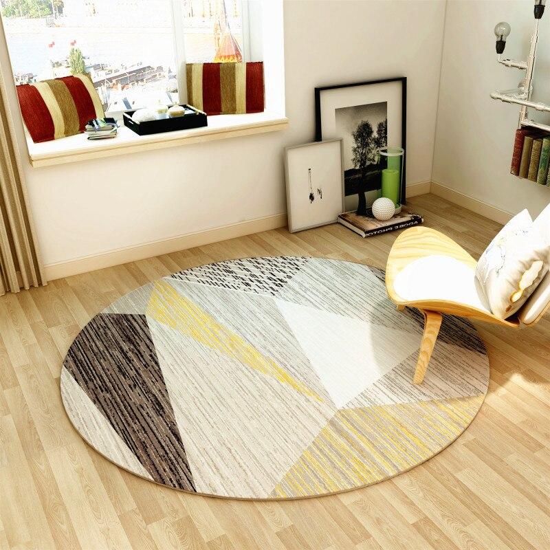 Круглое одеяло, современное простое одеяло для спальни, гостиной, чайный столик, подушка, корзина, подвесное кресло, подушка, компьютерный с
