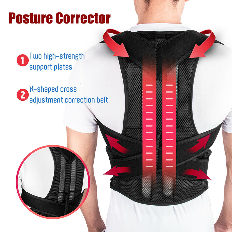 Shoulder Support Adjustable Back Pain Support Posture Corrector Brace Belt Medical Clavicle Corset Spine Lumbar Orthopedic Brace