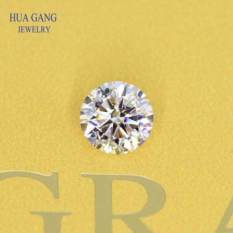 Round Brilliant Cut 1.5ct IJ Color Loose Moissanite Beads 7.5mm VVS1 Excellent Cut Grade Test Positive Lab Diamond Gemstones