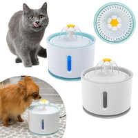2.4L 2 style Automatic Cat Water Fountain For Pets Water Dispenser Large Spring Drinking Bowl Cat Automatic Feeder Drink Filter