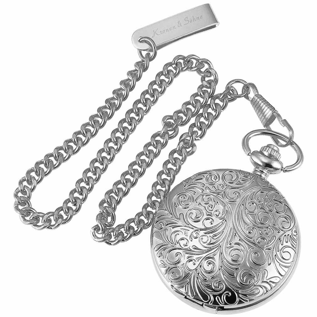 KS זהב Steampunk רומי מכאני כחול כיס שעון יד מתפתל גברים שעון Fobs ארוך שרשרת מפתח תליון שעונים + תיבה /KSP073