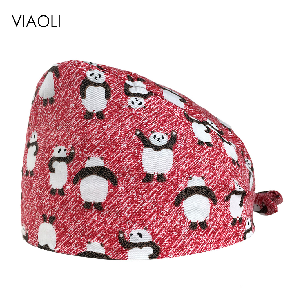 VIAOLI Men Women Medical Scrubs Pharmacy Work Cap Surgery Nurse Hat Oral Cavity Dental Clinic Pet Veterinary Surgical Cap064