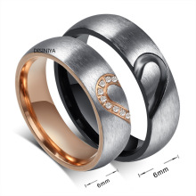 2021 New Fashion Love Heart Couple Rings for Women