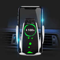 Wireless Car Charger for iPhone Samsung Huawei Smart Auto Clamp 10W Qi Fast Charging Car Mount Wireless Phone Charger Holder 10W