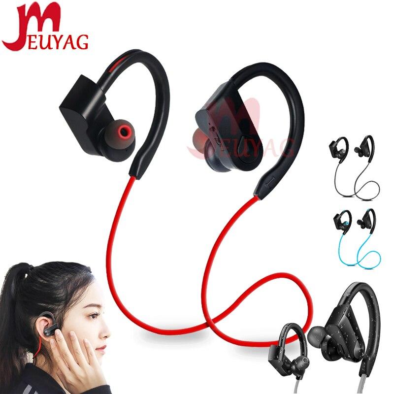 MEUYAG New K98 Wireless Bluetooth Earphone Stereo Sports Running Headset With Microphone Ear-hook Earphones For IPhone Huawei