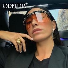 Luxury Retro Oversized sunglasses women 2020 Brand Designer Punk Square