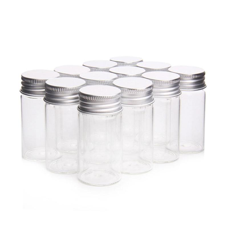Direct Aluminum Cap Control Bottle Transparent Glass Packaging Small Screw-only Bottle Laboratory Bottle Bottle Medicine I3E1