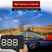 GEYIREN A5 GPS Hud Head Up Display Auto Tacho Projektor Windschutzscheibe Kilometerzähler Kompass Über Geschwindigkeit Alarm Navigation GPS 8980
