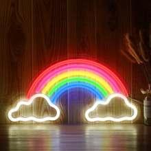 Декоративная светодиодная форма радуги неоновая вывессветильник