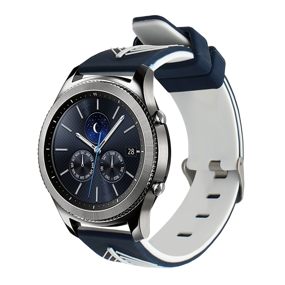 Quick Release Silicone Rubber Watchband 22mm For Samsung Gear S3 R760/R770 Galaxy Watch 46mm R800 Feather Grain Band Wrist Strap