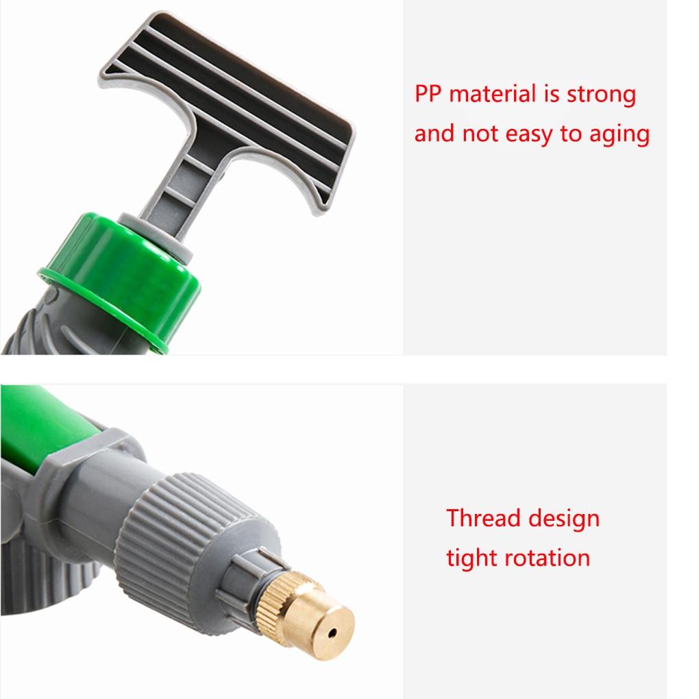 High Pressure Air Pump Manual Sprayer Adjustable Drink Bottle Spray Head Nozzle Garden Watering Tool 6
