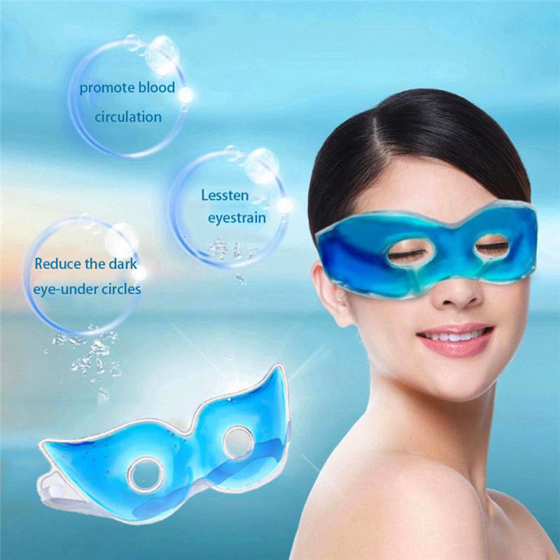 1pcs Ice Sleeping Eye Mask Relaxing Gel Eye Pad Patches Fatigue Relief Remove Dark Circles Lessen Eyestrain Cold Eye Mask