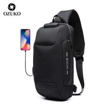 OZUKO 2019 New Multifunction Crossbody Bag for Men Anti-theft Shoulder Messenger Bags Male Waterproof Short Trip Chest Bag Pack - DISCOUNT ITEM  42% OFF All Category