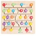 Kinder Holz Anzahl Brief Aufklärung Instrument Anzahl Brief Kognitiven Labyrinth Lage Puzzle Spielzeug